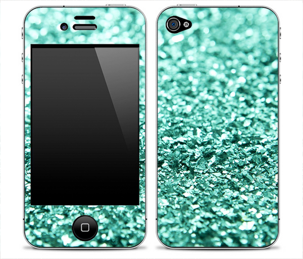 Aqua Green Glimmer Skin for the iPhone 3gs, 4/4s or 5