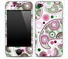 White and Pink Paisley Print Skin for the iPhone 3gs, 4/4s, 5, 5s or 5c