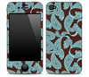 Brown and Turquoise Paisley Print Skin for the iPhone 3gs, 4/4s, 5, 5s or 5c