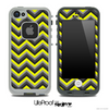 Black and Yellow Chevron V4 Skin for the iPhone 5 or 4/4s LifeProof Case
