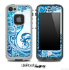 Turquoise Abstract Swirled Pattern Skin for the iPhone 5 or 4/4s LifeProof Case