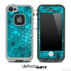Turquoise Mosaic V3 Skin for the iPhone 5 or 4/4s LifeProof Case