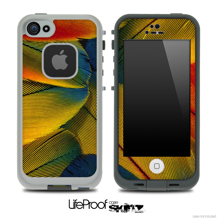 Bright Neon Feather Skin for the iPhone 5 or 4/4s LifeProof Case