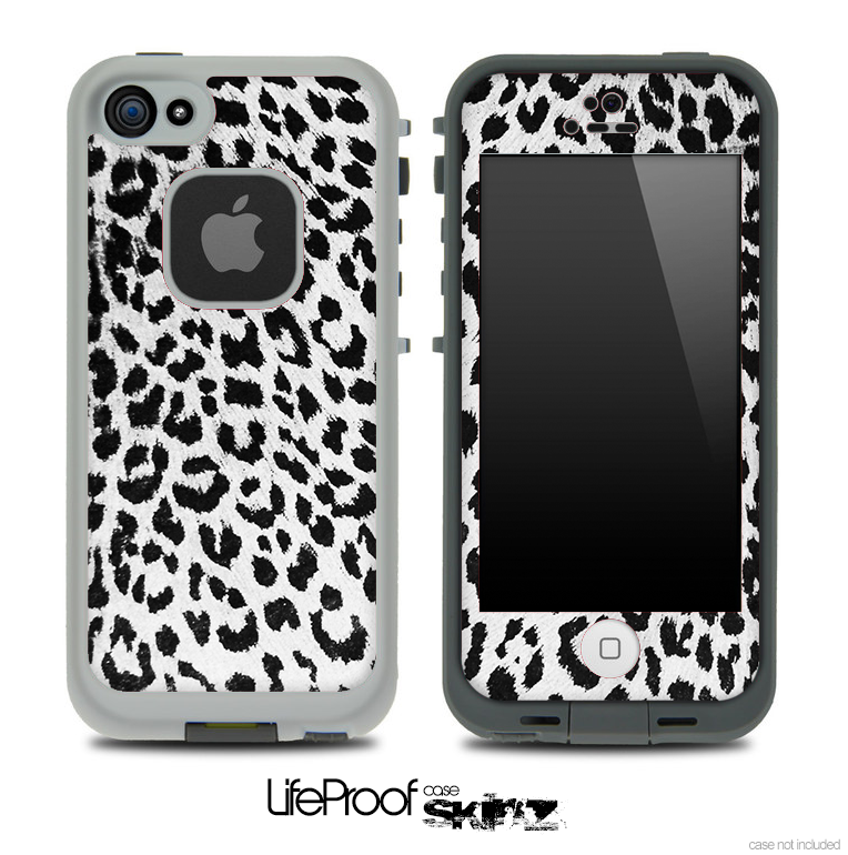 Snow Leopard Skin for the iPhone 5 or 4/4s LifeProof Case