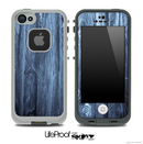 Solid Blue Wood Skin for the iPhone 5 or 4/4s LifeProof Case