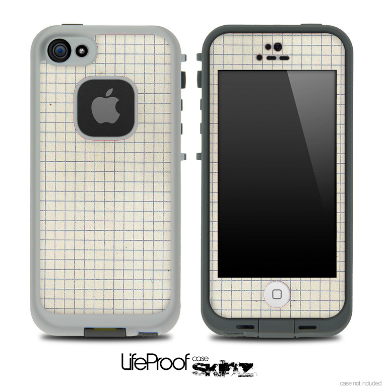 Graph Paper Skin for the iPhone 5 or 4/4s LifeProof Case