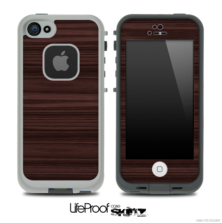 Parallel Dark Wood Skin for the iPhone 5 or 4/4s LifeProof Case