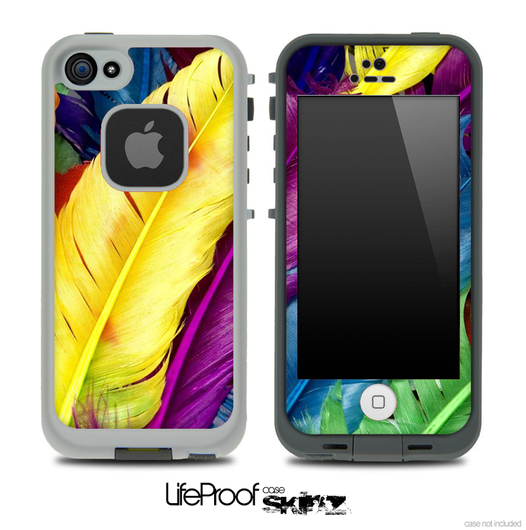 Neon Feathers Skin for the iPhone 5 or 4/4s LifeProof Case