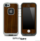 Simple Dark Wood Skin for the iPhone 5 or 4/4s LifeProof Case
