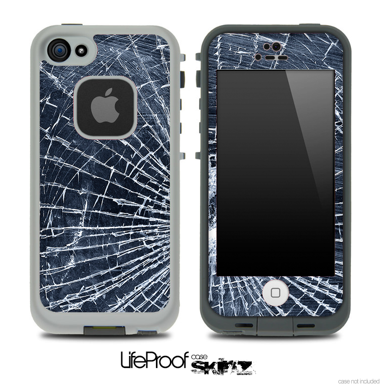 Cracked Glass Skin for the iPhone 5 or 4/4s LifeProof Case