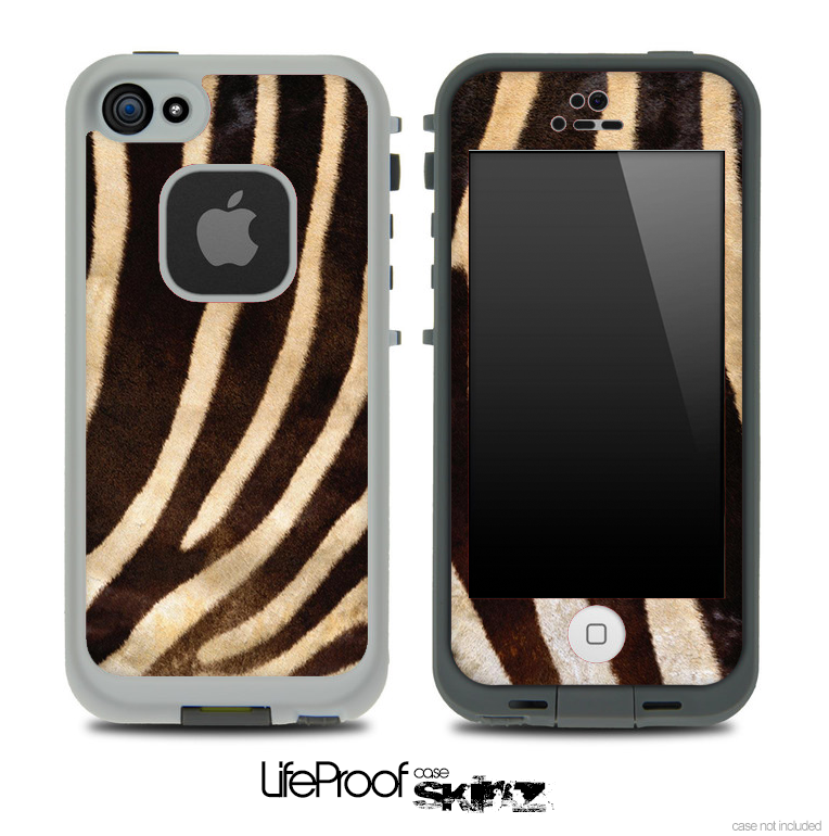 Vintage Zebra Skin for the iPhone 5 or 4/4s LifeProof Case