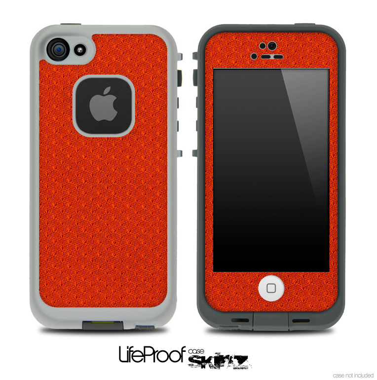 Orange Jersey Skin for the iPhone 5 or 4/4s LifeProof Case