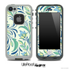 Blue & Green Floral Skin for the iPhone 5 or 4/4s LifeProof Case