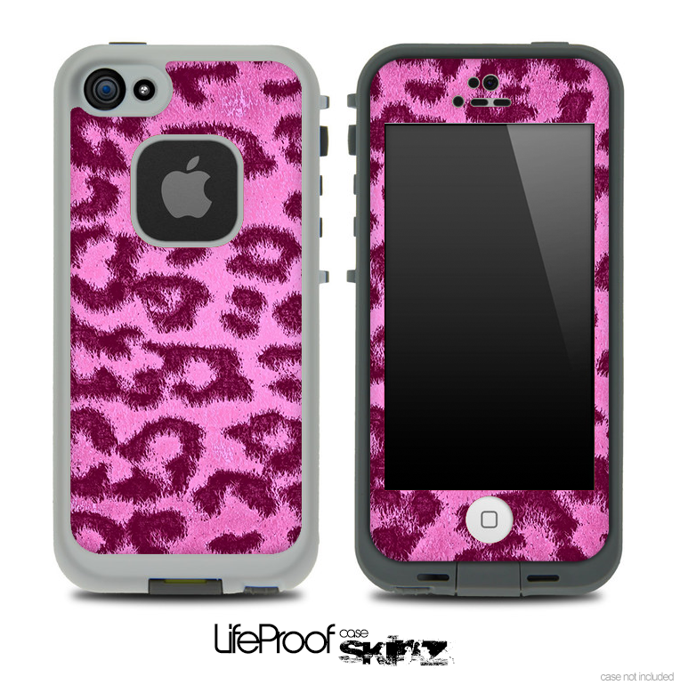 Neon Pink Cheetah Skin for the iPhone 5 or 4/4s LifeProof Case