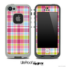 Pink Plaid Skin for the iPhone 5 or 4/4s LifeProof Case