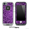 Purple Lace Design Skin for the iPhone 5 or 4/4s LifeProof Case