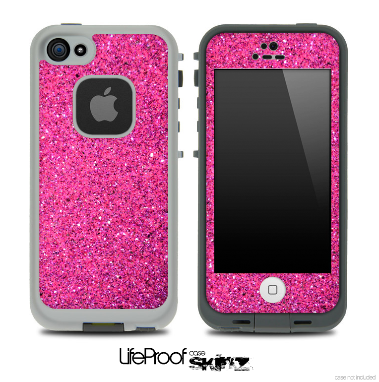 Pink Glitter Ultra Metallic Skin for the iPhone 5 or 4/4s LifeProof Case