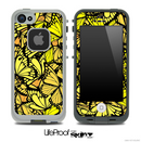 Yellow Butterfly Bundle Skin for the iPhone 5 or 4/4s LifeProof Case