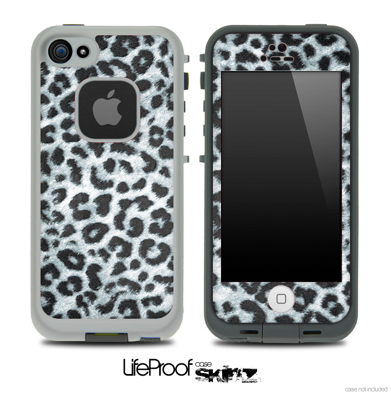 Real Black And White Leopard Print Skin for the iPhone 5 or 4/4s LifeProof Case