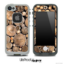 Wood Log Ends Skin for the iPhone 5 or 4/4s LifeProof Case