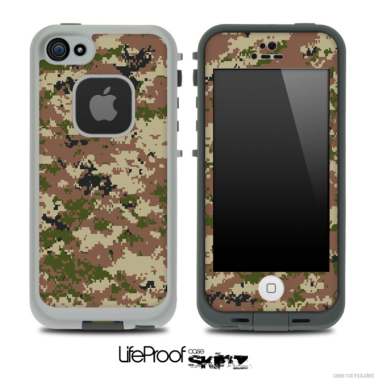 Digital Camo V2 Skin for the iPhone 5 or 4/4s LifeProof Case