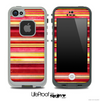 Vintage Color Striped Skin for the iPhone 5 or 4/4s LifeProof Case