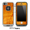 Worn Orange Skin for the iPhone 5 or 4/4s LifeProof Case