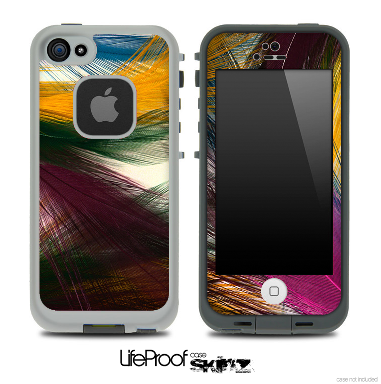 Color Feathers Skin for the iPhone 5 or 4/4s LifeProof Case
