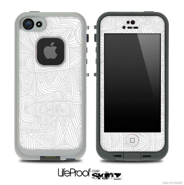 Sketch Doodle Skin for the iPhone 5 or 4/4s LifeProof Case