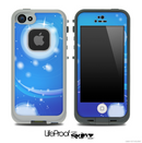 Blue Abstract Design Skin for the iPhone 5 or 4/4s LifeProof Case