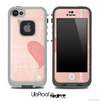 Subtle Pink Hearts Skin for the iPhone 5 or 4/4s LifeProof Case