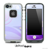 Abstract Purple Swirls Skin for the iPhone 5 or 4/4s LifeProof Case