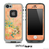 Vintage Orange Flowerland Pattern Skin for the iPhone 5 or 4/4s LifeProof Case