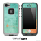 Vintage Green and Orange Pattern Skin for the iPhone 5 or 4/4s LifeProof Case