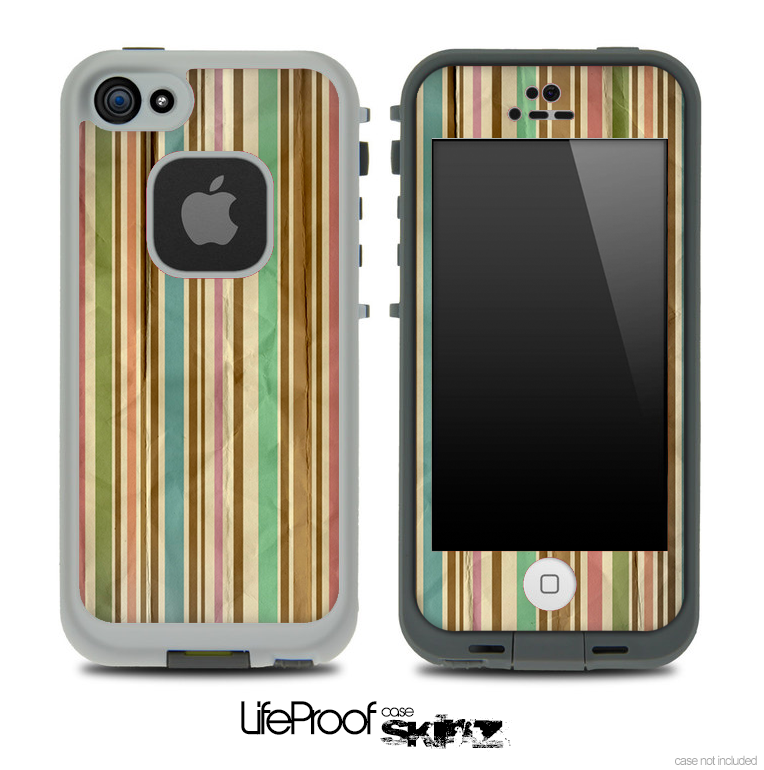 Vintage Striped Pattern Skin for the iPhone 5 or 4/4s LifeProof Case