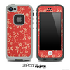 Red Fabric Pattern Skin for the iPhone 5 or 4/4s LifeProof Case