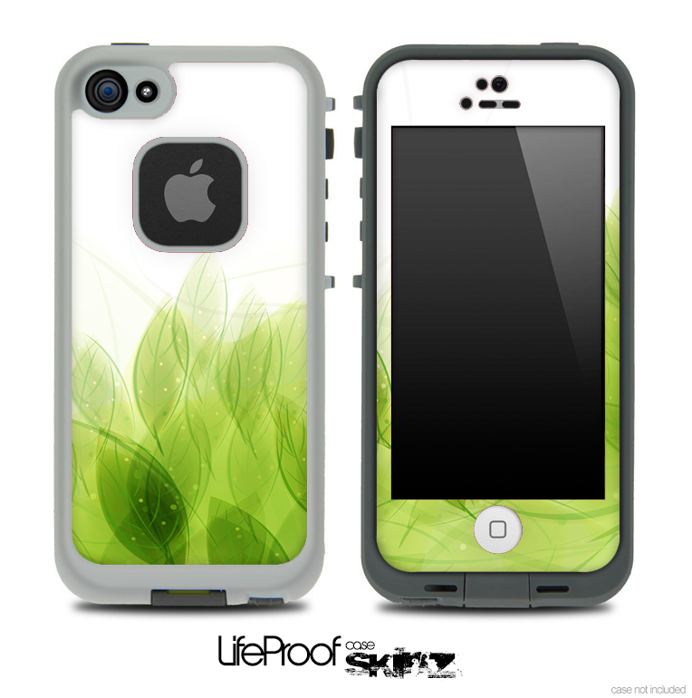 Green Magical Leaves Skin for the iPhone 5 or 4/4s LifeProof Case