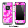 Abstract Pink Camo Skin for the iPhone 5 or 4/4s LifeProof Case