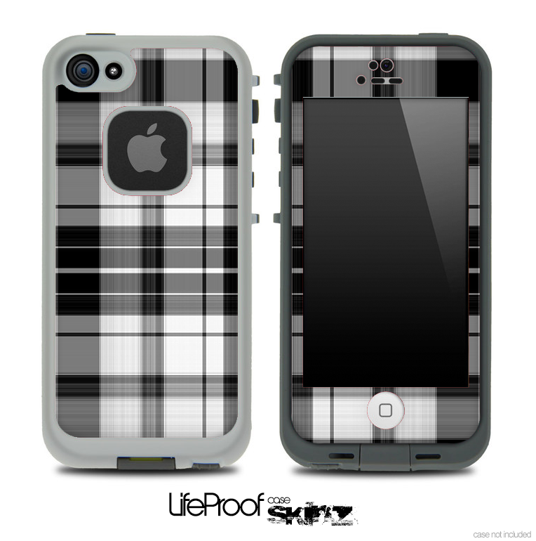 Black & White Plaid Skin for the iPhone 5 or 4/4s LifeProof Case
