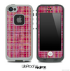 Woven Pink Plaid Skin for the iPhone 5 or 4/4s LifeProof Case