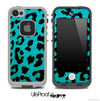 Blue Cheetah Skin for the iPhone 5 or 4/4s LifeProof Case