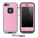 Pink Fabric Skin for the iPhone 5 or 4/4s LifeProof Case