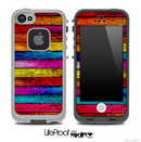 Neon Horizontal Wood Skin for the iPhone 5 or 4/4s LifeProof Case