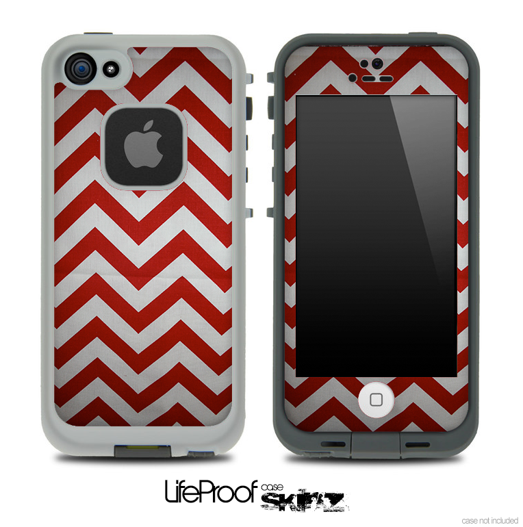 Candy Cane Zig Zag Skin for the iPhone 5 or 4/4s LifeProof Case