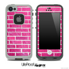 Pink Brick Wall Skin for the iPhone 5 or 4/4s LifeProof Case