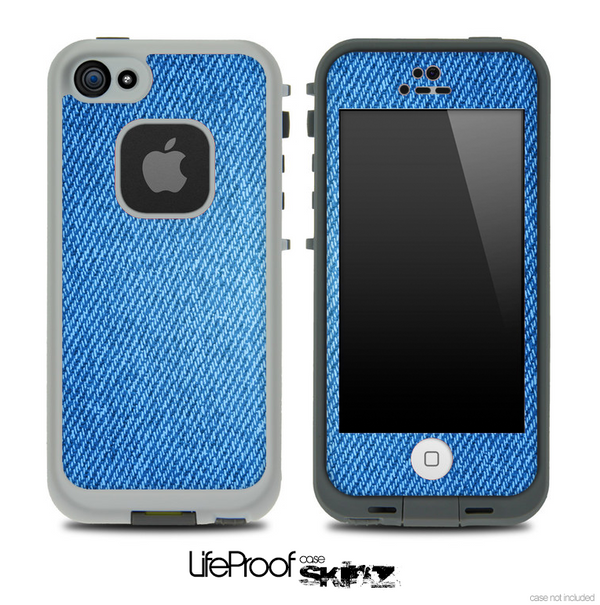 b047b49188f7cd Blue Jeans Skin for the iPhone 5 or 4 4s LifeProof Case - DesignSkinz