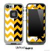 Two Toned Chevron Pattern Orange Skin for the iPhone 5 or 4/4s LifeProof Case
