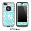 Swirly Blue Pattern V2 Skin for the iPhone 5 or 4/4s LifeProof Case