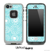 Swirly Blue Pattern V1 Skin for the iPhone 5 or 4/4s LifeProof Case