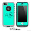 Trendy Green with Your Name Custom Skin for the iPhone 5 or 4/4s LifeProof Case